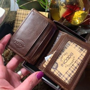 Authentic BOCONI Leather compact Card/ID RFID